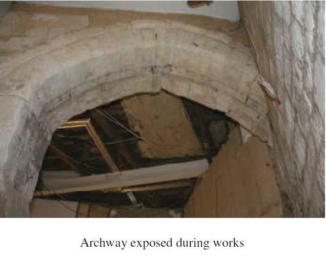 Detail of arch in Gardiner's Wing, Farnham Castle