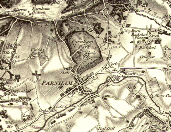 Farnham Park old map