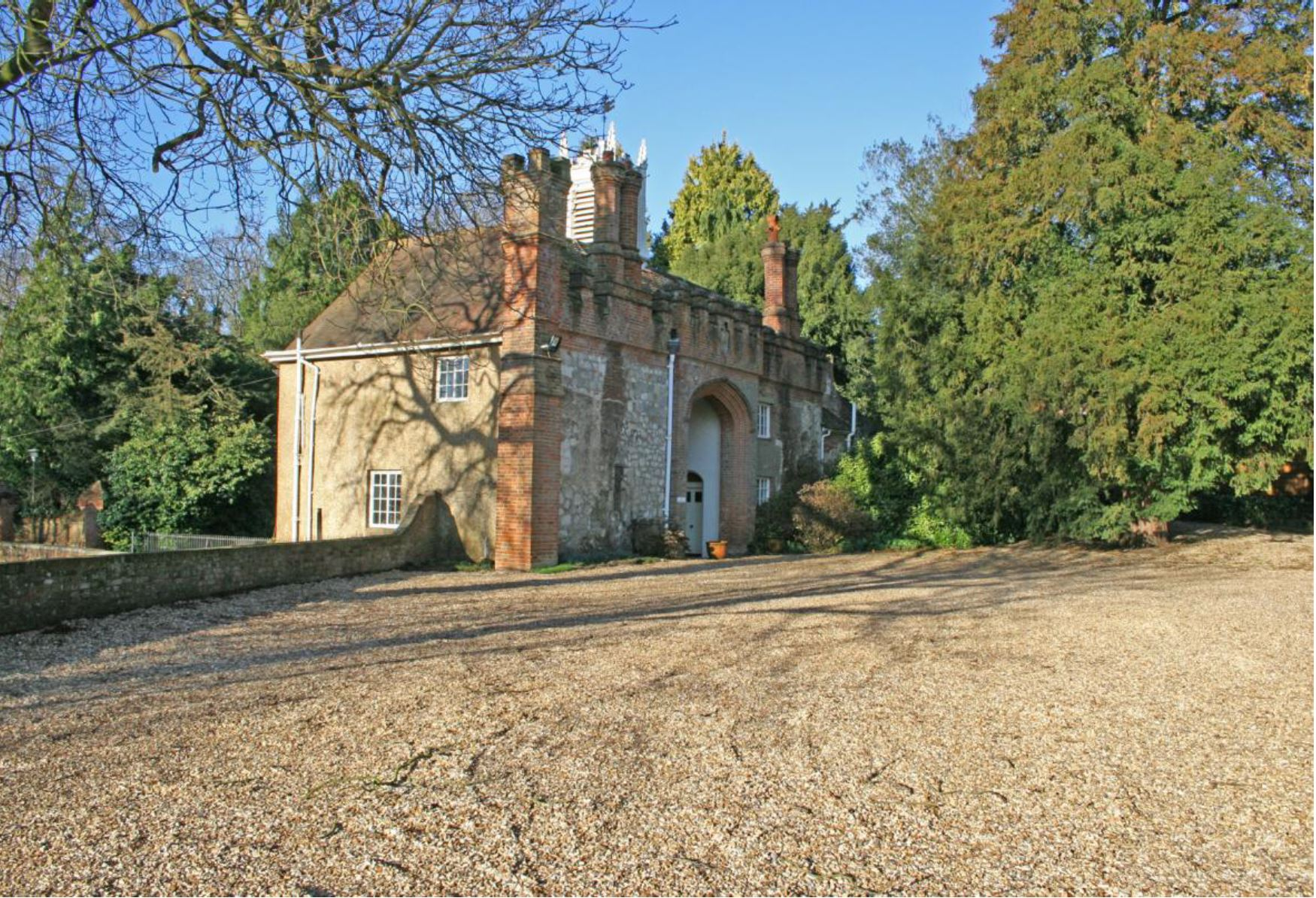 New car park inside Great Gate, Farnham Castle