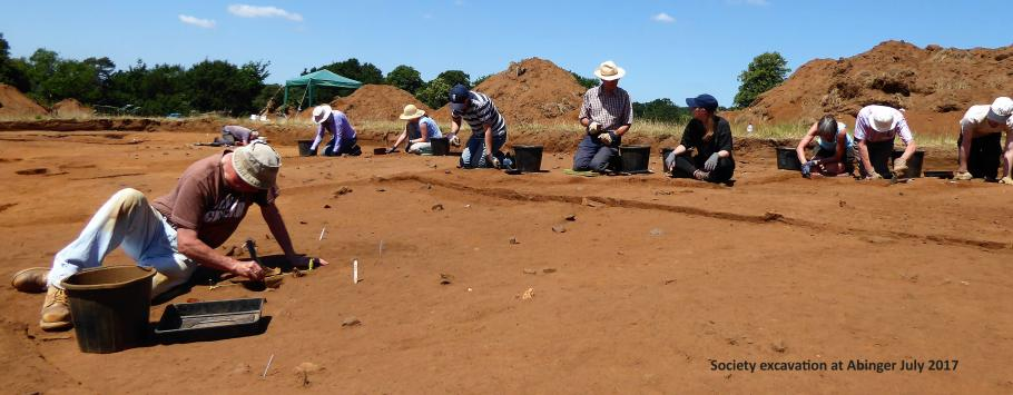 Society excavation at Abinger July 2017
