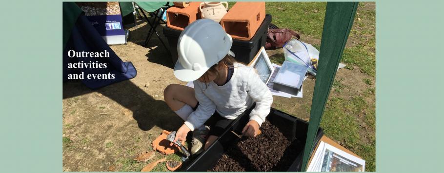 Outreach of childrens dig box