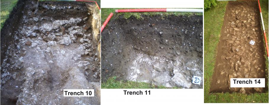 Excavated trenches 10 ,11 and 14